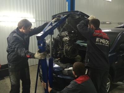 Установка двигателя Mitsubishi Lancer